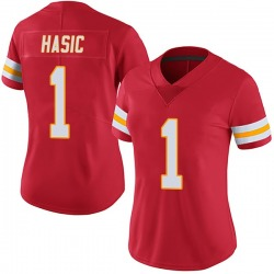 Nike Anas Hasic Kansas City Chiefs Women's Limited Red Team Color Vapor Untouchable Jersey