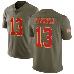 Nike Byron Pringle Kansas City Chiefs Youth Limited Green 2017 Salute to Service Jersey