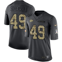 Nike Daniel Sorensen Kansas City Chiefs Youth Limited Black 2016 Salute to Service Jersey