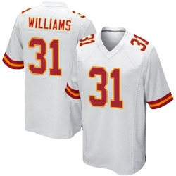 Nike Darrel Williams Kansas City Chiefs Youth Game White Jersey